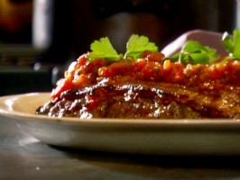 Dad's Meatloaf with Tomato Relish