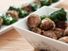 Lamb Meatballs and Collard Dolmades