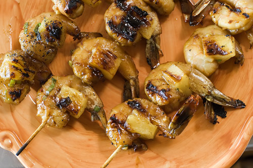 Yummy, Easy Pineapple Skewered Shrimp
