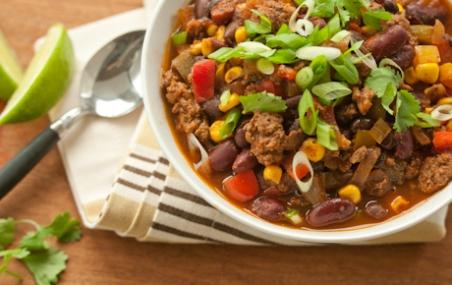 Beef, Bean and Veggie Chili