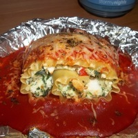 Crab and spinach lasagne rollups Recipe