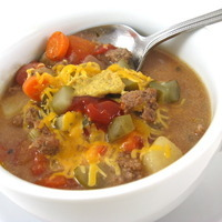 Cheeseburger in Paradise Skinny Soup Recipe