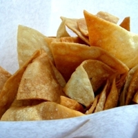 Fresh homade tortilla chips restaurant style Recipe