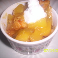 Open Faced Peach Mango Cobbler w/Crystallized Ginger Recipe