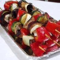 Veggie and tofu kabobs Recipe