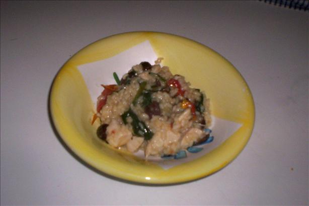 Mediterranean Chicken Risotto