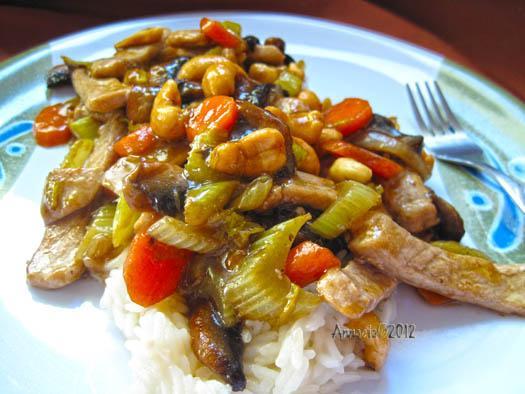 Honey Nut Pork or Chicken Stir-Fry
