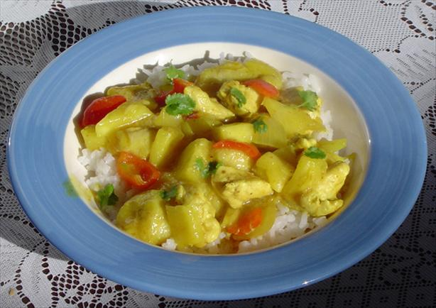 Caribbean Mini Banana and Pineapple Curry