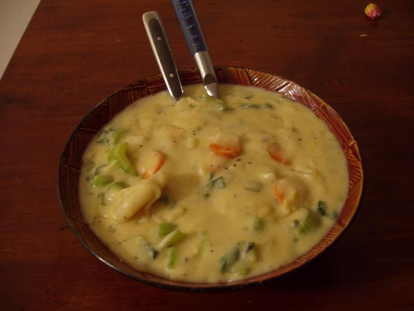 Cream of Fresh Vegetable Soup (Vegetarian)