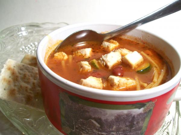 Minestrone With Tofu