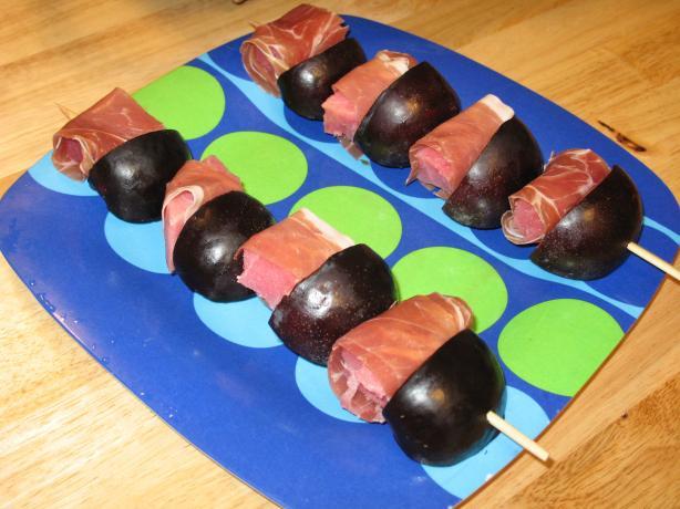 Grouper Skewers W/ Mango & Serrano Ham & Camembert Sauce