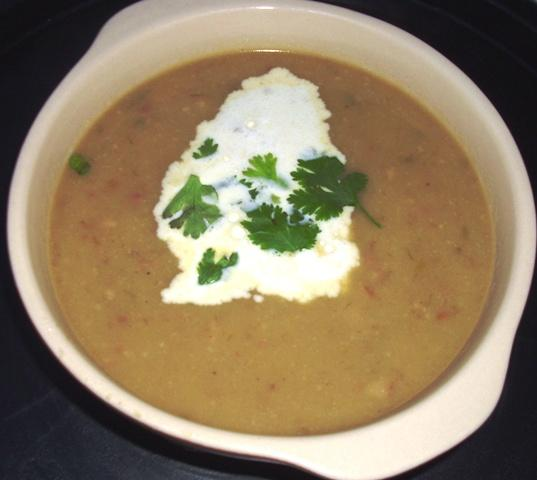 Cream of Turnip, Potato and Leek Soup