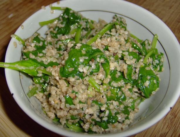 Ugandan Spinach and Simsim