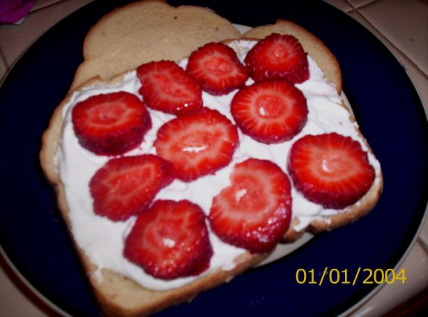 Fruit and Whipped Cream Sandwich