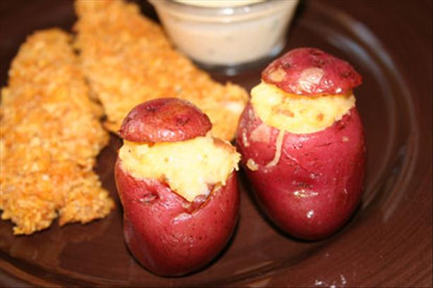 Cheddar and Bacon-Stuffed Baby Potatoes