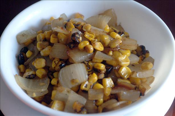 Roasted Corn and Onions