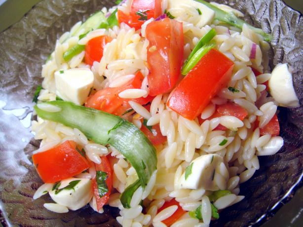 Chilled Orzo, Beaming Tomatoes, & Little Buster Zucchini