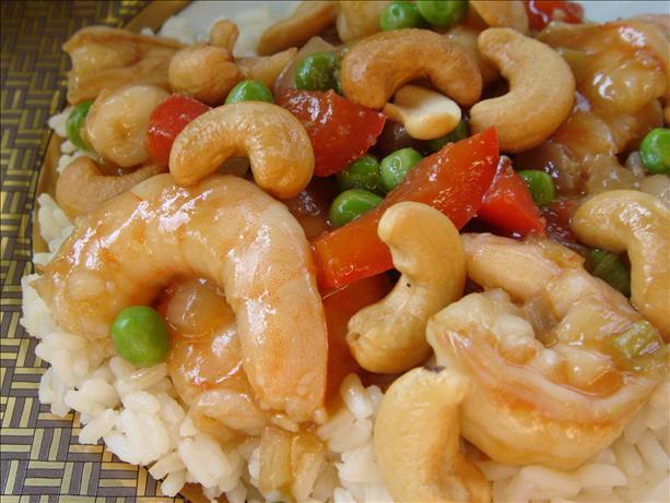 Bev's Jazzed-Up Cashew Shrimp