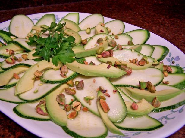 Zucchini Carpaccio With Avocado