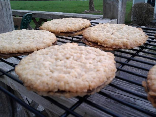 Lacy Oatmeal Sandwich Cookies