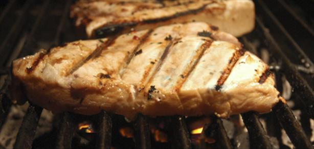 Grilled Swordfish With Spicy Tropical Sauce