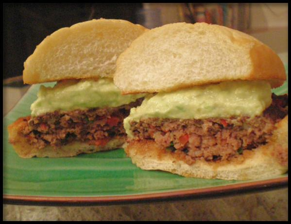 Peppered Burgers With Avocado