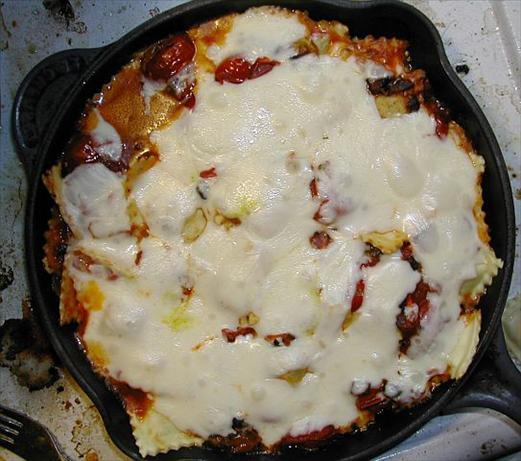 Leftovers Tasty Baked Ravioli