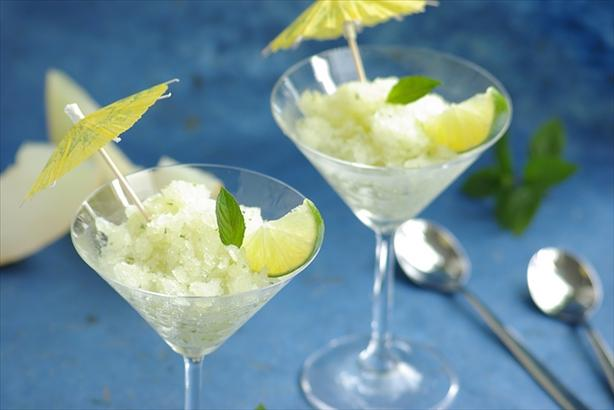 Cantaloupe-Lime-Granita