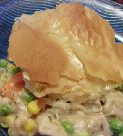 Chicken and Veggie Pie With Phyllo Top