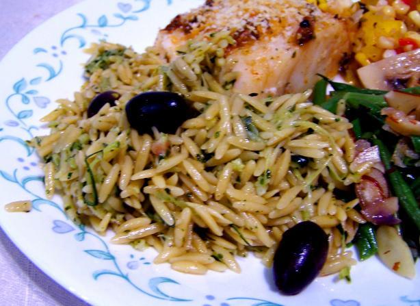 Zucchini and Orzo Salad
