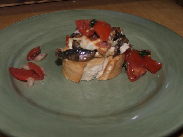 Bruschetta Chicken and Mushrooms