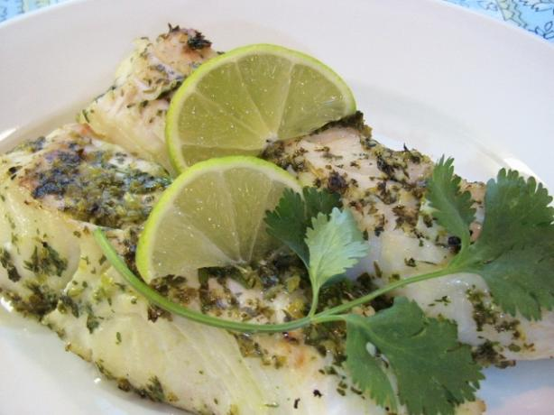 Pacific Pesto Grilled Halibut