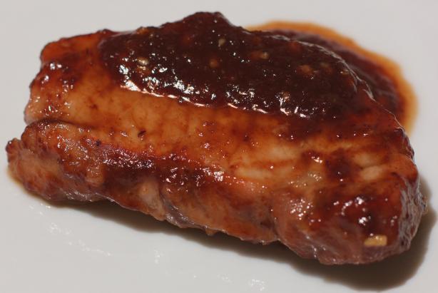 Plum Pork Steaks