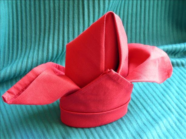 Serviette/Napkin Folding, Fleur De Lis/Cardinal Combination