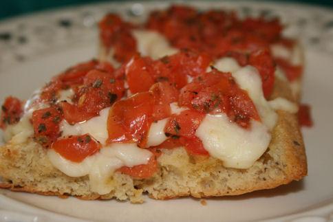 Mozzarella Basil Bruschetta