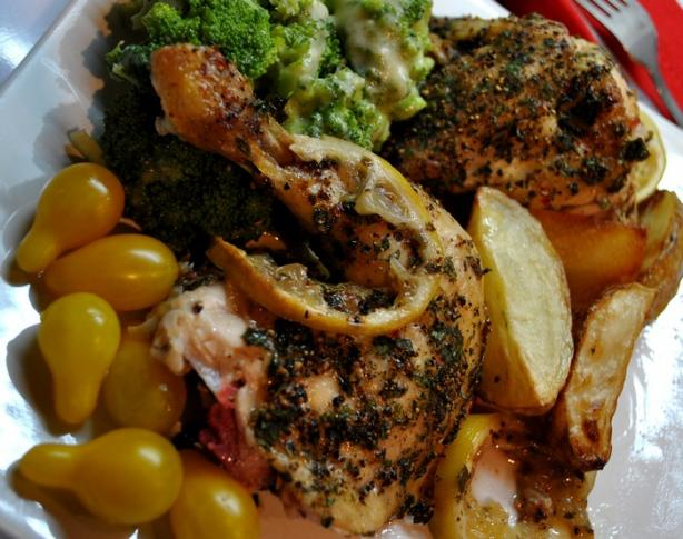 Lemon Pepper Roast Chicken