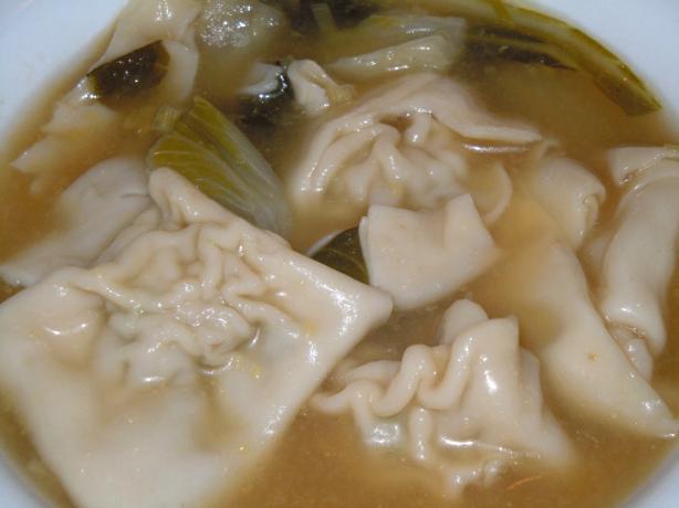 Kittencal's Asian Pork Wonton Soup Dumplings