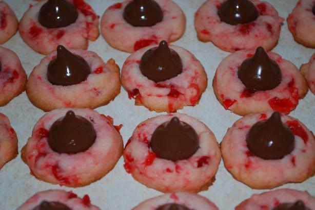 Cherry Cordial Kiss Cookies