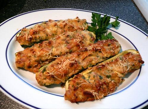 Stuffed Zucchini - Zucchini Ripieni