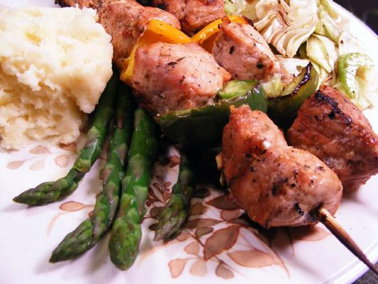 Greek-Style Pork Kabobs