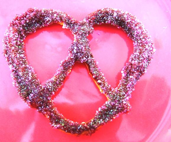 Pretty in Pink Pretzels