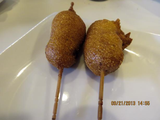 Mini Corn Dogs (From Emeril)