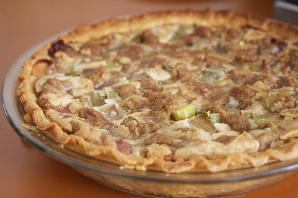 Irene's Rhubarb Custard Pie