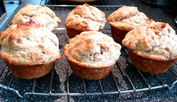 Golden Peanut Butter Muffins