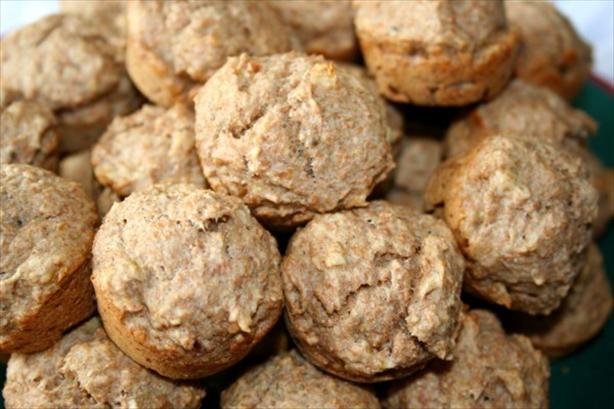 Banana Pecan Whole Wheat Mini Muffins