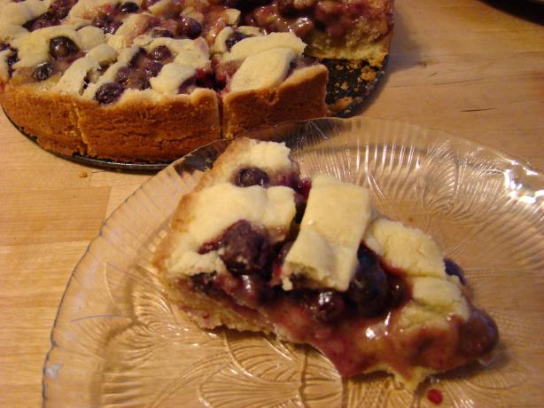 Blueberry Almond Tart With Frangipane
