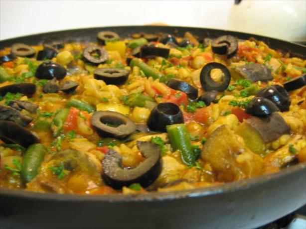 Isaiah's Vegetarian Paella [ Kosher ]