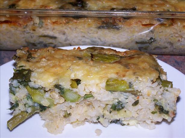 Asparagus and Bocconcini Risotto Bake (Slice)