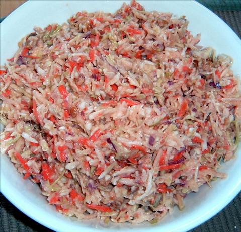 Coleslaw With Pecans & Spicy Chile Dressing