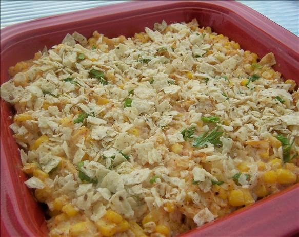 Creamy Corn Tortilla Bake